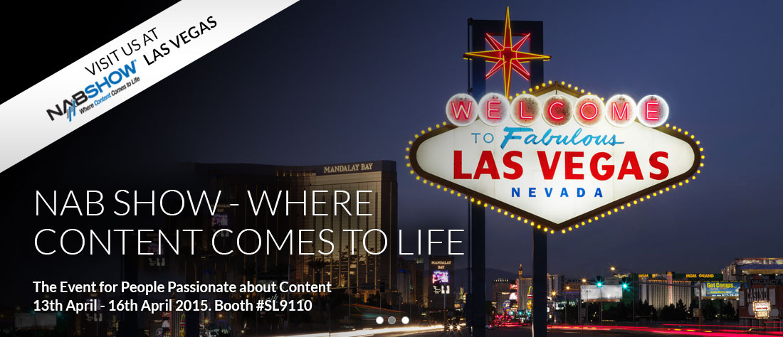 Visit us at the 2015 NAB Show Las Vegas